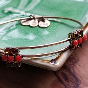 Alex and Ani Cinnamon Sparkler Wire Bracelet